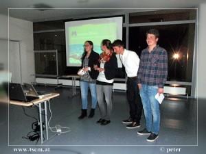 Alexandra Heigl, Martina Stolz, Christoph Wagner, Tim Schmerbacher (v.l.n.r.) Projekt: Mountain Divers - Konzept zur Gründung einer Tauchbasis am Semmering